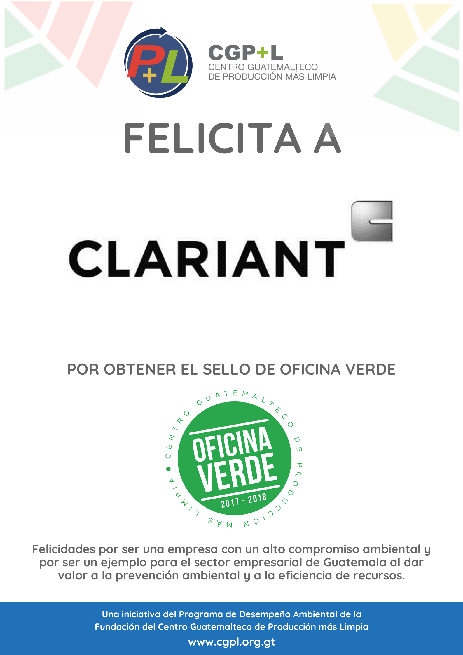 Clariant Obtiene El Sello De Oficina Verde, Cuarta Re Verificación