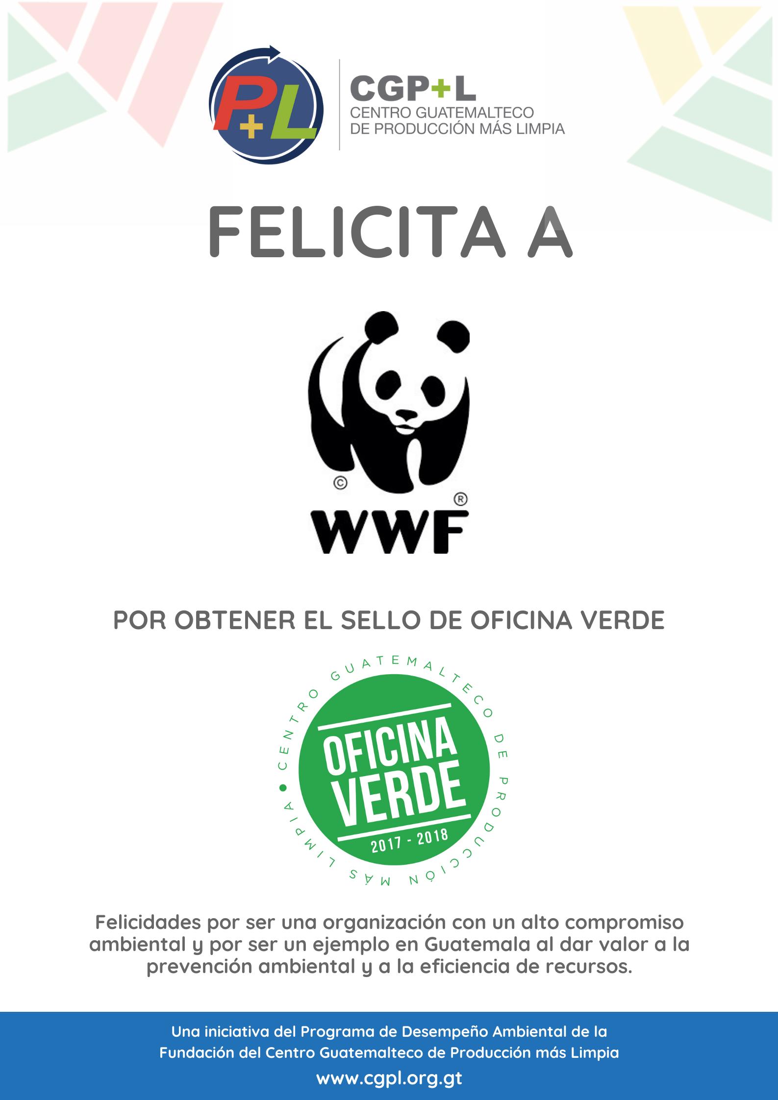 Fondo Mundial Para La Naturaleza Obtiene El Sello De Oficina Verde, ¡felicidades!